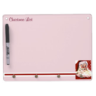 A Vintage Santa Dry Erase Board With Keychain Holder