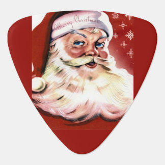 A Vintage Santa Guitar Pick