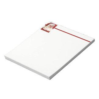 A Vintage Santa Notepad