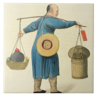 A Viper Seller, plate 46 from 'The Costume of Chin Ceramic Tiles