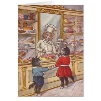 A Visit to a Bakery, Card