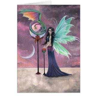 A Vivid Dream Fairy and Dragon Greeting Card
