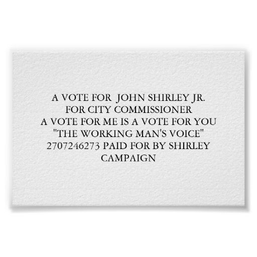 a vote for me print