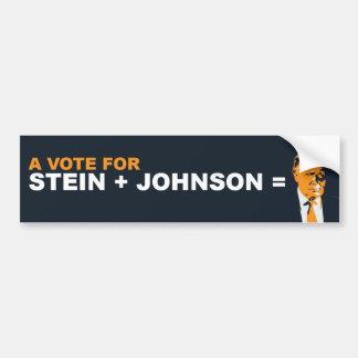 A vote for stein or johnson is a vote for Trump Bumper Sticker