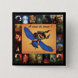 À vous de jouer ! - Macaron 2008-10-14 2 Inch Square Button