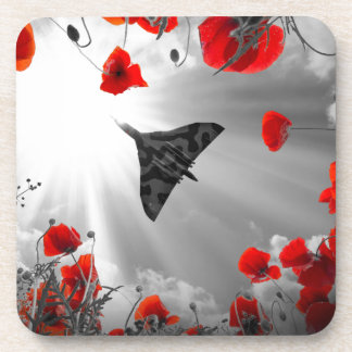 A Vulcan Poppy red Drink Coasters
