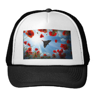 A Vulcan Poppy Trucker Hat