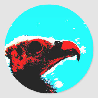 A vulture classic round sticker