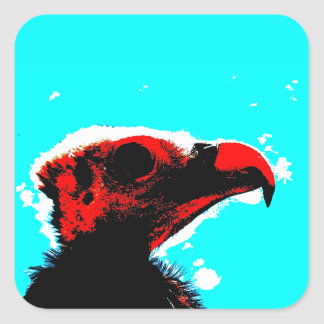 A vulture square sticker