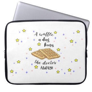 A Waffle a day Keeps the Doctor Away! Laptop Sleeve