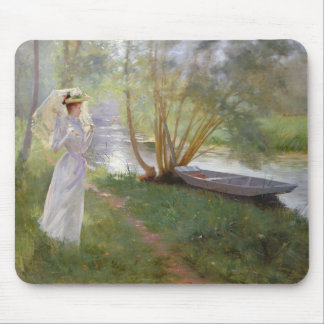 A walk by the river, 1890 mouse pad
