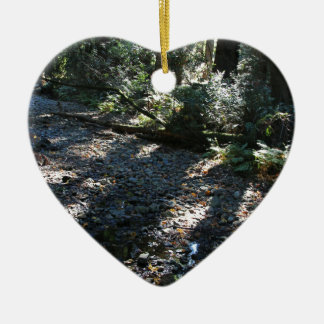 A Walk in Muir Woods Ceramic Heart Ornament