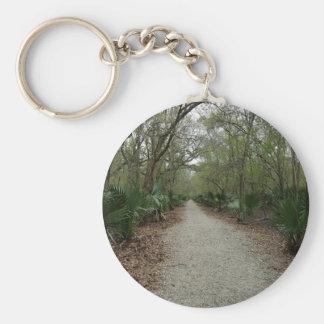 A walk in Nature Basic Round Button Keychain