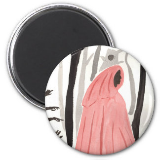 A Walk In The Creepy Forest 2 Inch Round Magnet