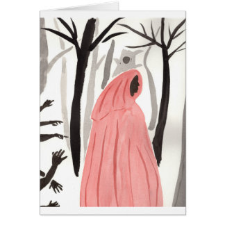 A Walk In The Creepy Forest Card