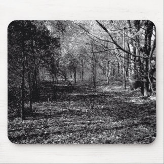 a walk in the dark woods mouse pad