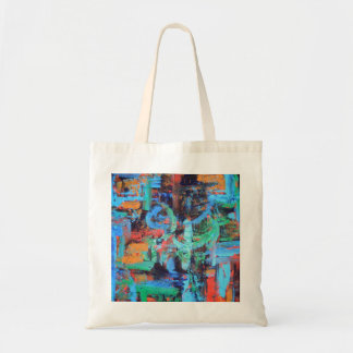 A Walk In The Forest - Abstract Art Brushstrokes Budget Tote Bag