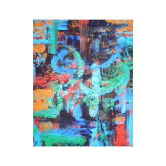 A Walk In The Forest - Abstract Art Canvas