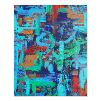 A Walk In The Forest - Abstract Art Handpainted Poster