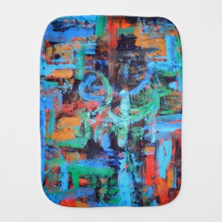 A Walk In The Forest-Modern Art Brushstrokes Baby Burp Cloth
