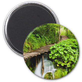 A Walk in the Woods 2 Inch Round Magnet