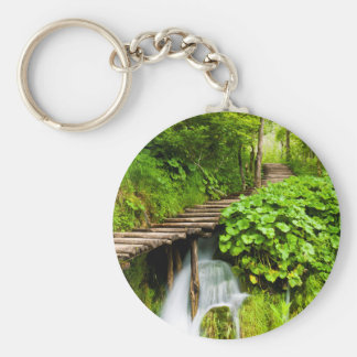 A Walk in the Woods Basic Round Button Keychain