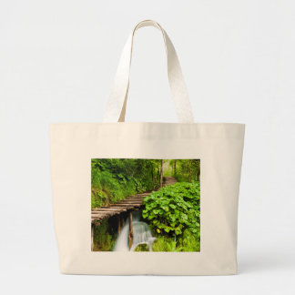 A Walk in the Woods Large Tote Bag