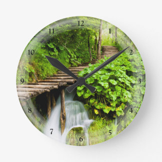A Walk in the Woods Round Clock