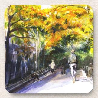 A Walk Through The Park Cork Coaster