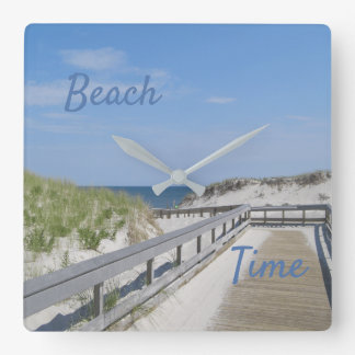 A Walk to The Beach Square Wall Clock