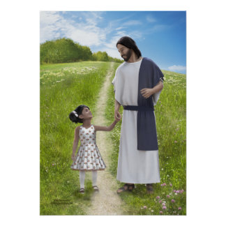 A Walk with Jesus - 20 x 28 Poster