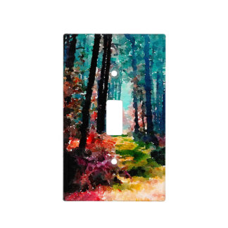 A Wall Through the Woods Light Switch Cover