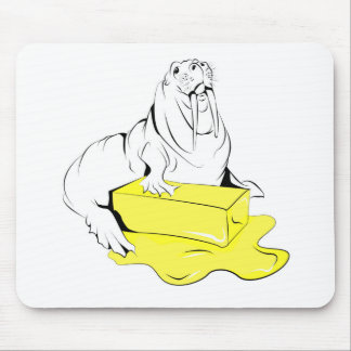 A Walrus and his Butter Mouse Pad
