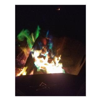 a warm fire letterhead