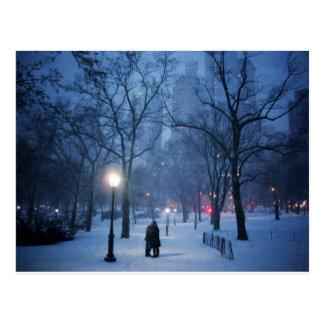 A Warm Kiss On A Cold Night Postcard