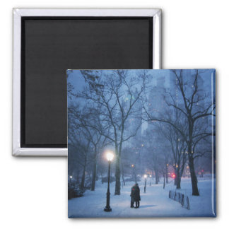 A Warm Kiss On A Cold Night Square Magnet