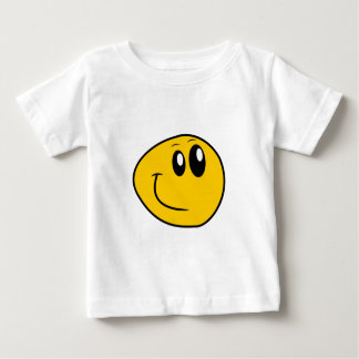 A Warped Yellow Happy Smiley Baby T-Shirt