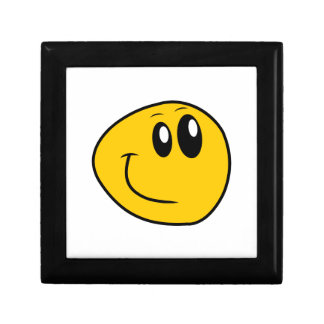 A Warped Yellow Happy Smiley Gift Box