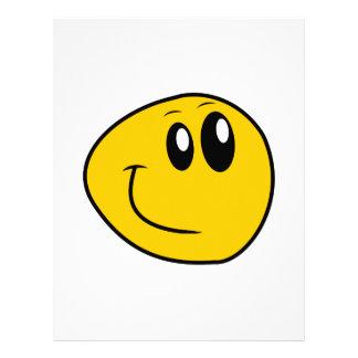 A Warped Yellow Happy Smiley Letterhead