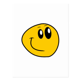 A Warped Yellow Happy Smiley Postcard