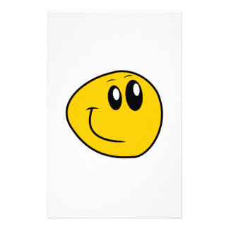 A Warped Yellow Happy Smiley Stationery