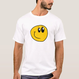 A Warped Yellow Happy Smiley T-Shirt