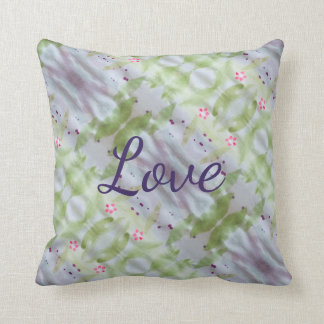 A Watercolor Art Pillow