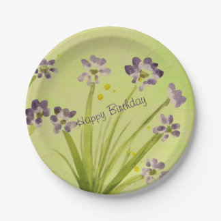A Watercolor Designer Paper Plate 7 Inch Paper Plate