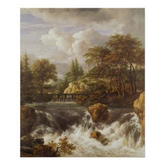 A Waterfall in a Rocky Landscape, c.1660-70 Posters
