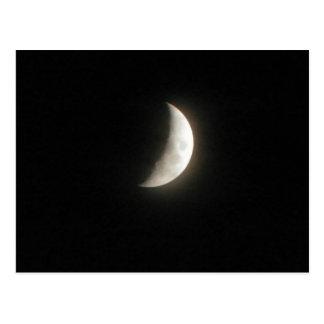 A waxing crescent moon- a young moon postcard
