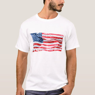 A Weathered American Flag T-Shirt
