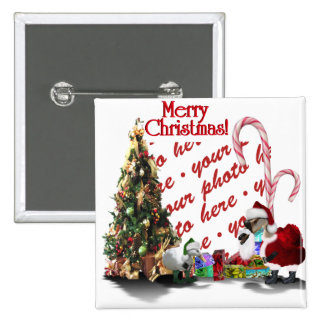 A Web Footed Christmas 2 Inch Square Button