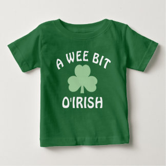 A Wee Bit Irish | St. Patrick's Day Baby T-Shirt