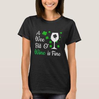 A Wee Bit O' Wine Shirt